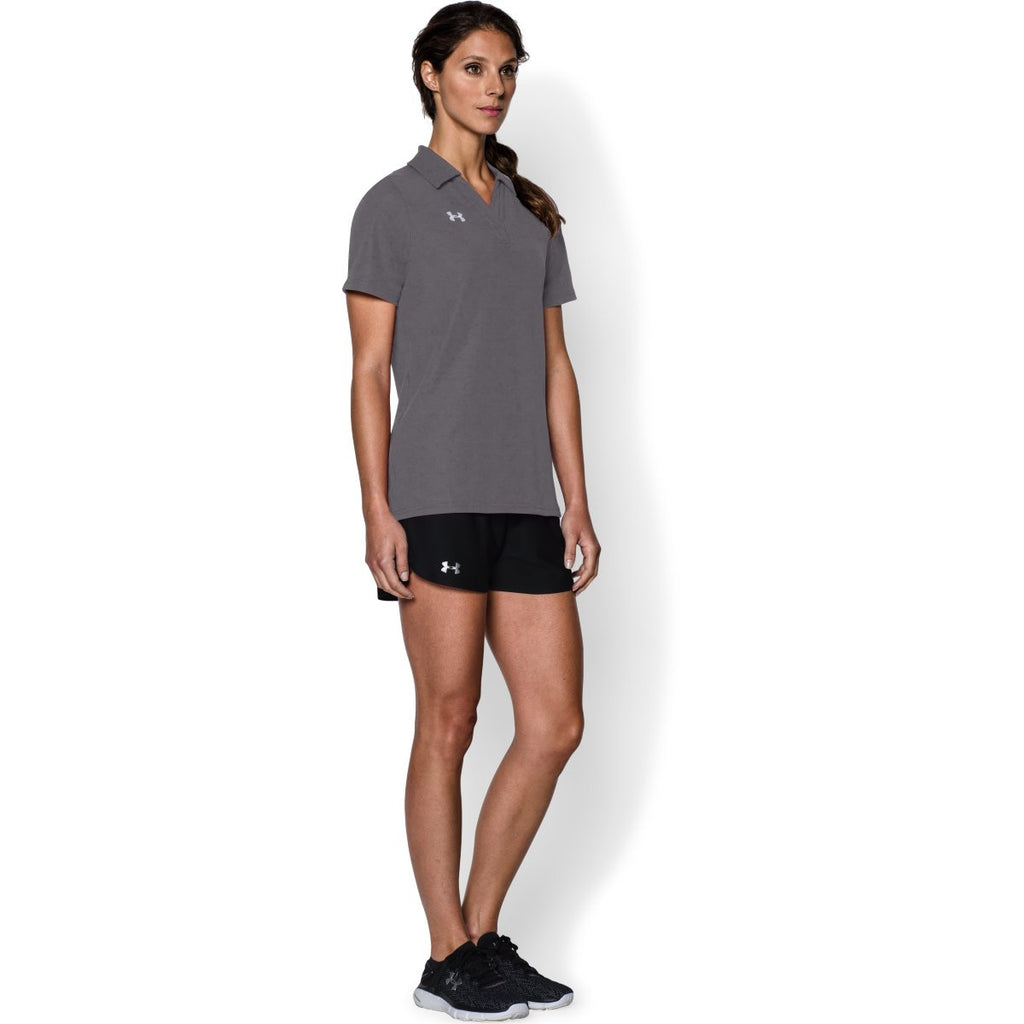 Under Armour Women's Graphite Performance Team Polo