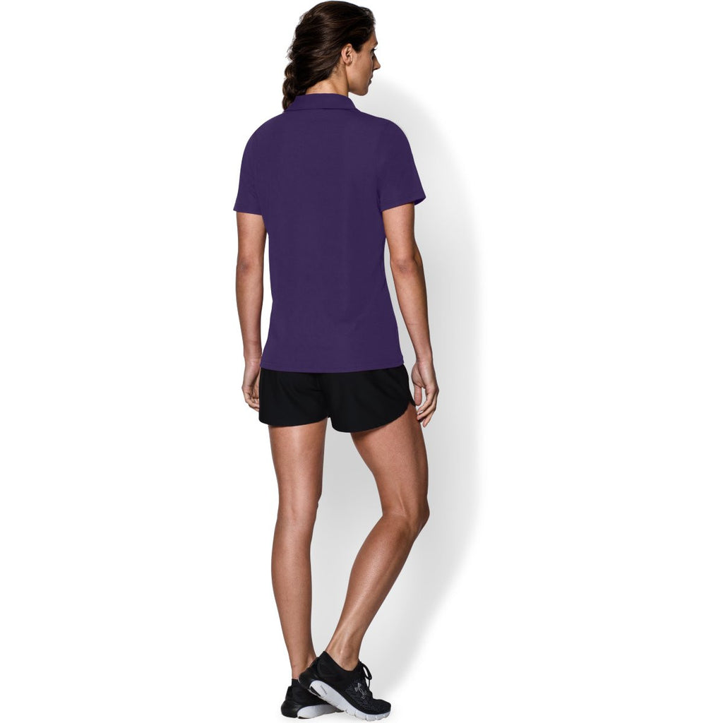 Under Armour Women's Purple Performance Team Polo