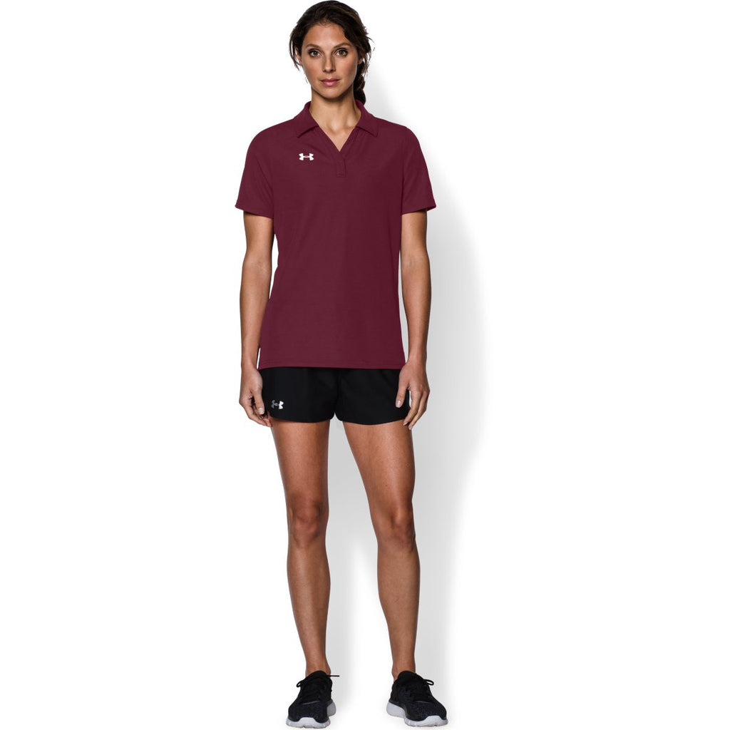 Under Armour Women's Maroon Performance Team Polo