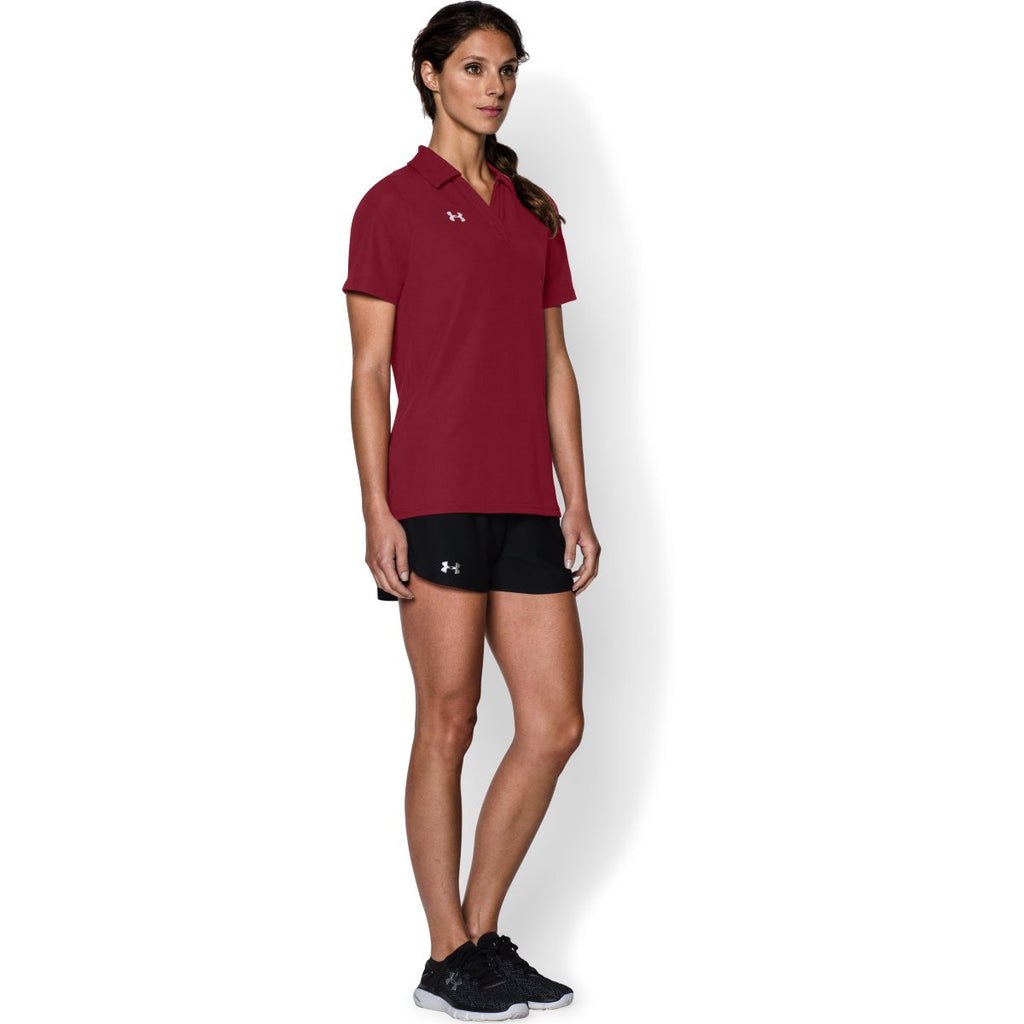 Under Armour Women's Cardinal Performance Team Polo
