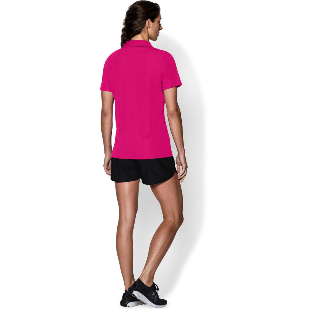 Under Armour Women's Tropical Pink Performance Team Polo