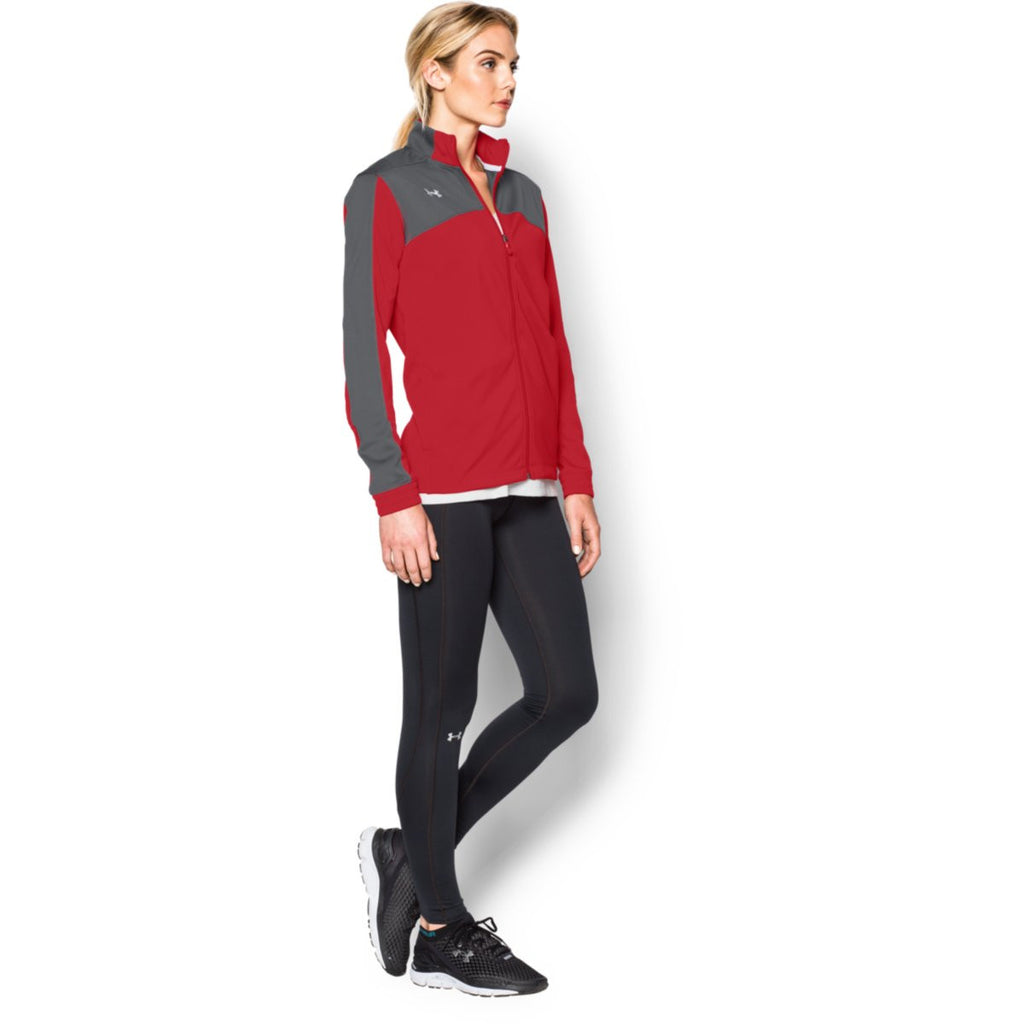 Under Armour Women's Red Futbolista Jacket