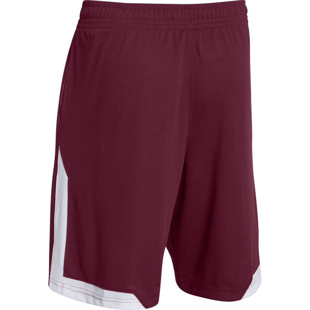 Under Armour Men's Maroon Assist Shorts