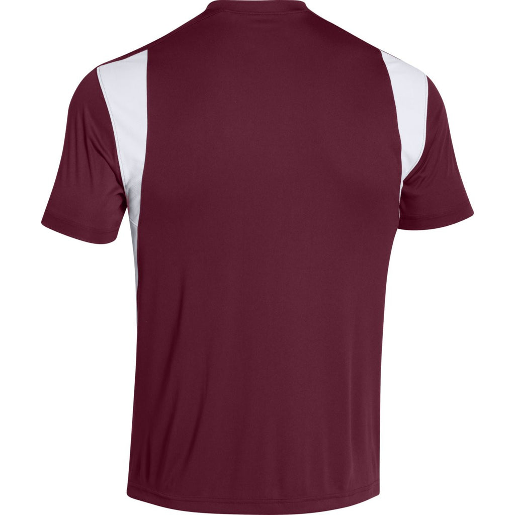 Under Armour Men's Maroon Zone S/S T-Shirt