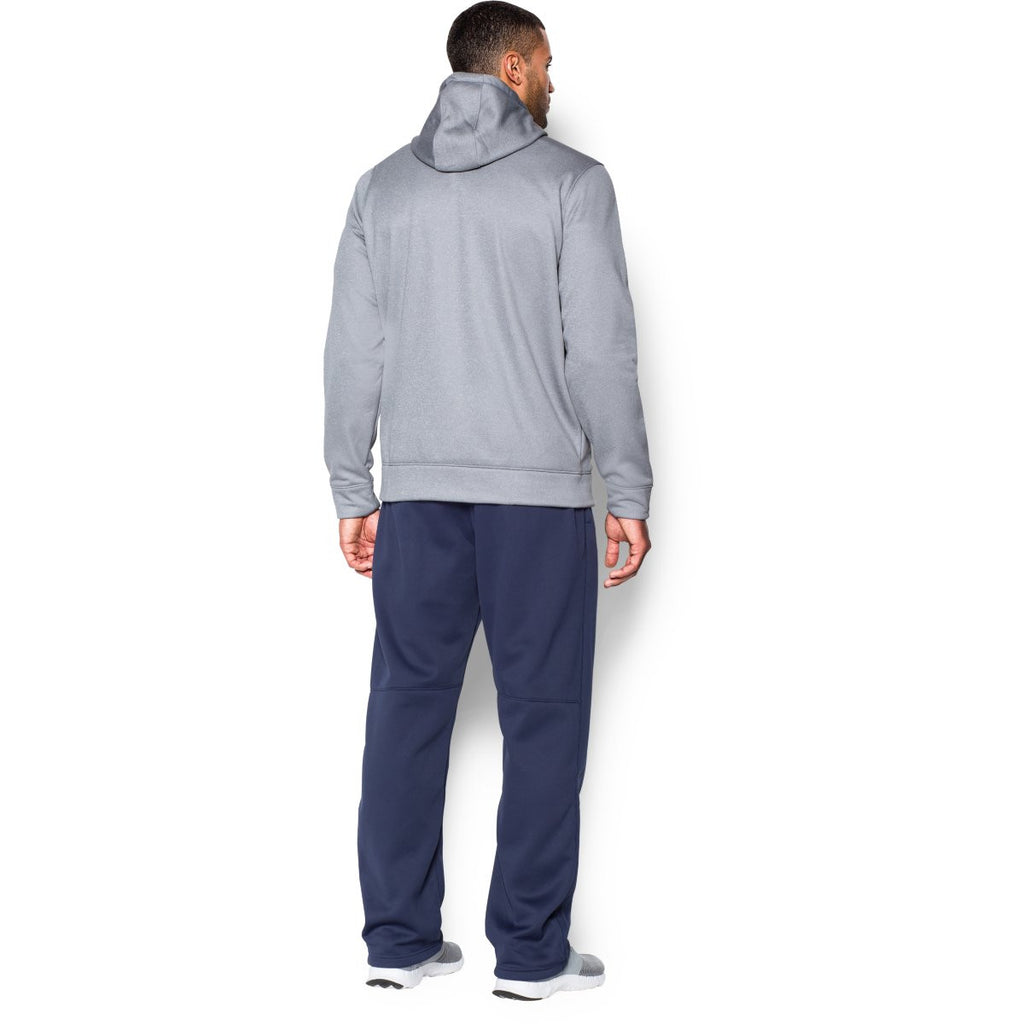 Under Armour Men's Grey Heather Storm Armour Fleece Hoodie