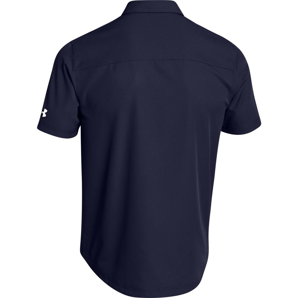 Under Armour Men's Navy Ultimate S/S Button Down Shirt