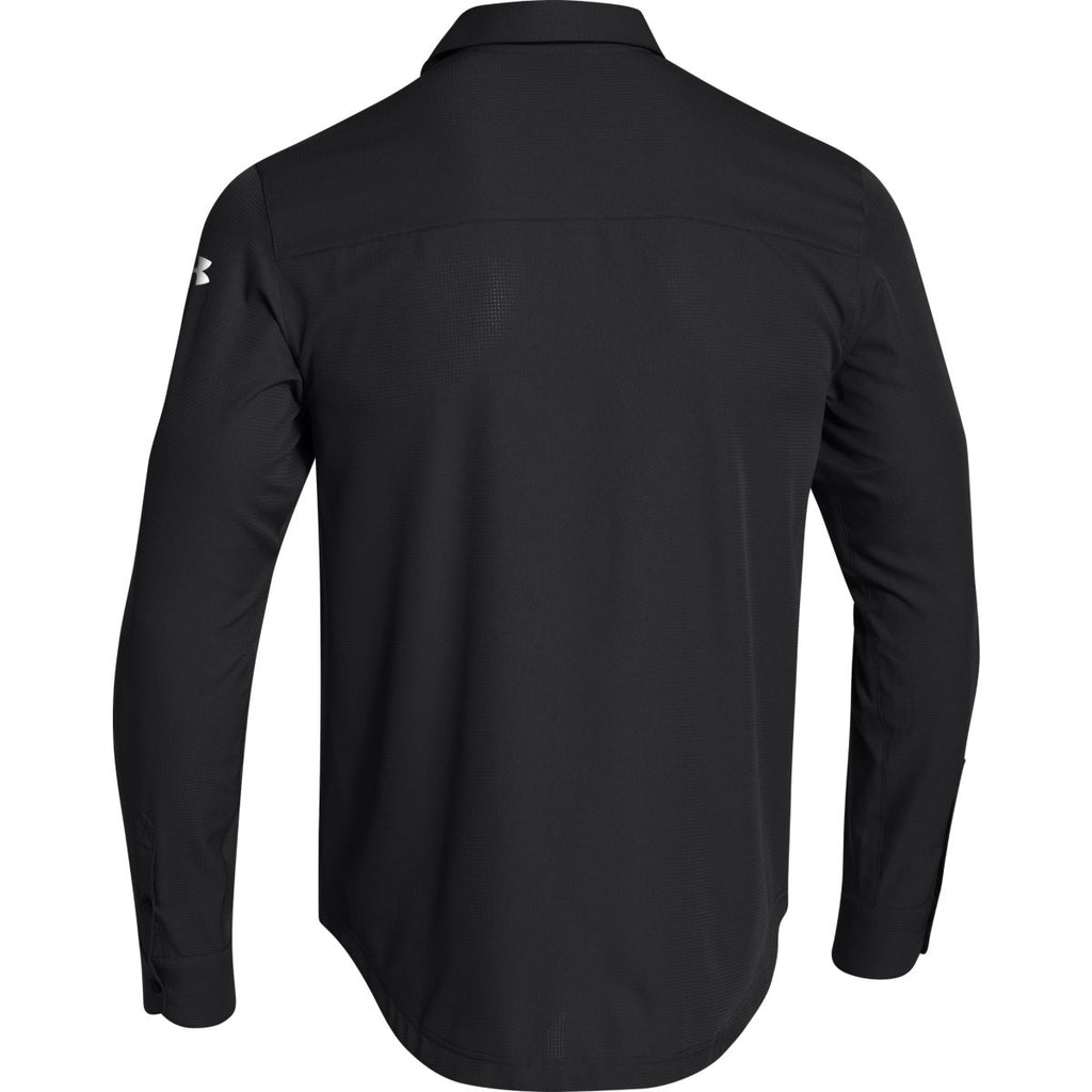 Black t shirt under button down - Under Armour Men S Black Ultimate L S Button Down Shirt