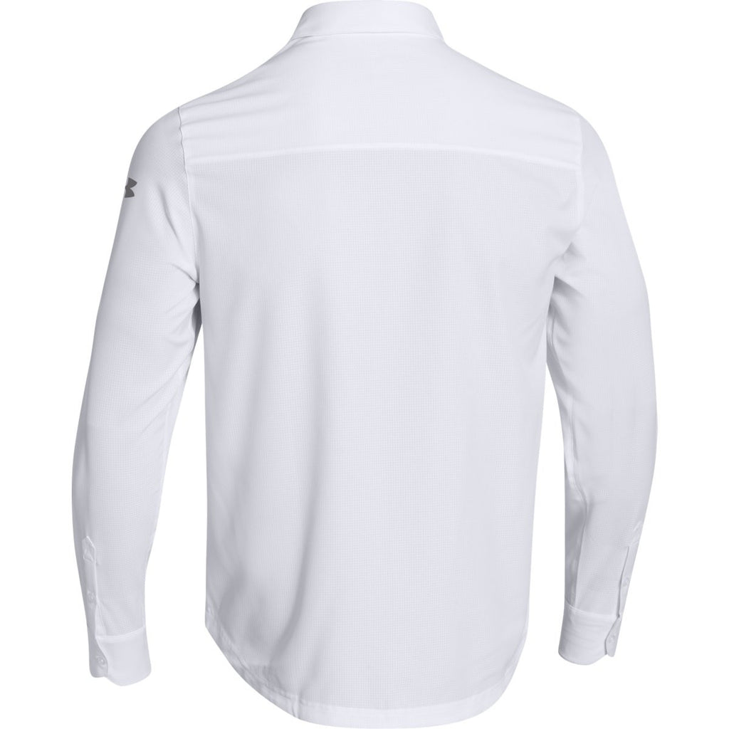 Black t shirt under button down - Under Armour Men S White Ultimate L S Button Down Shirt