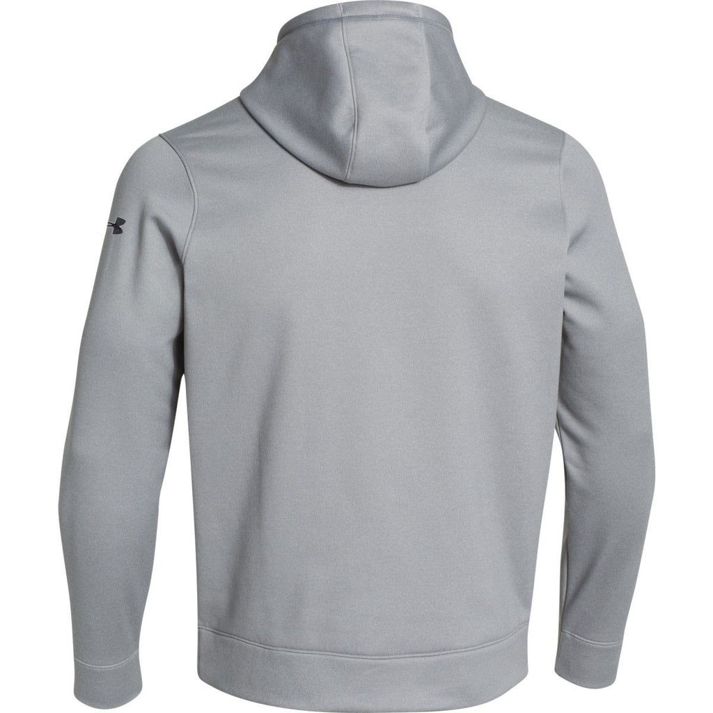 Screen Printed Under Armour Corporate Men's True Grey Heather Storm Armour Fleece Hoodie