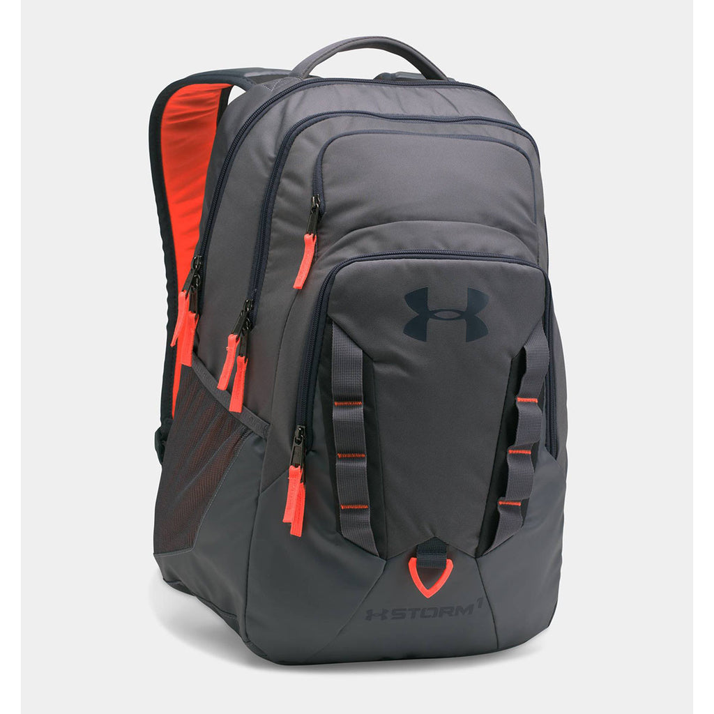 Under Armour Orange Storm Recruit Backpack. ADD YOUR LOGO 6e58c6519c31a