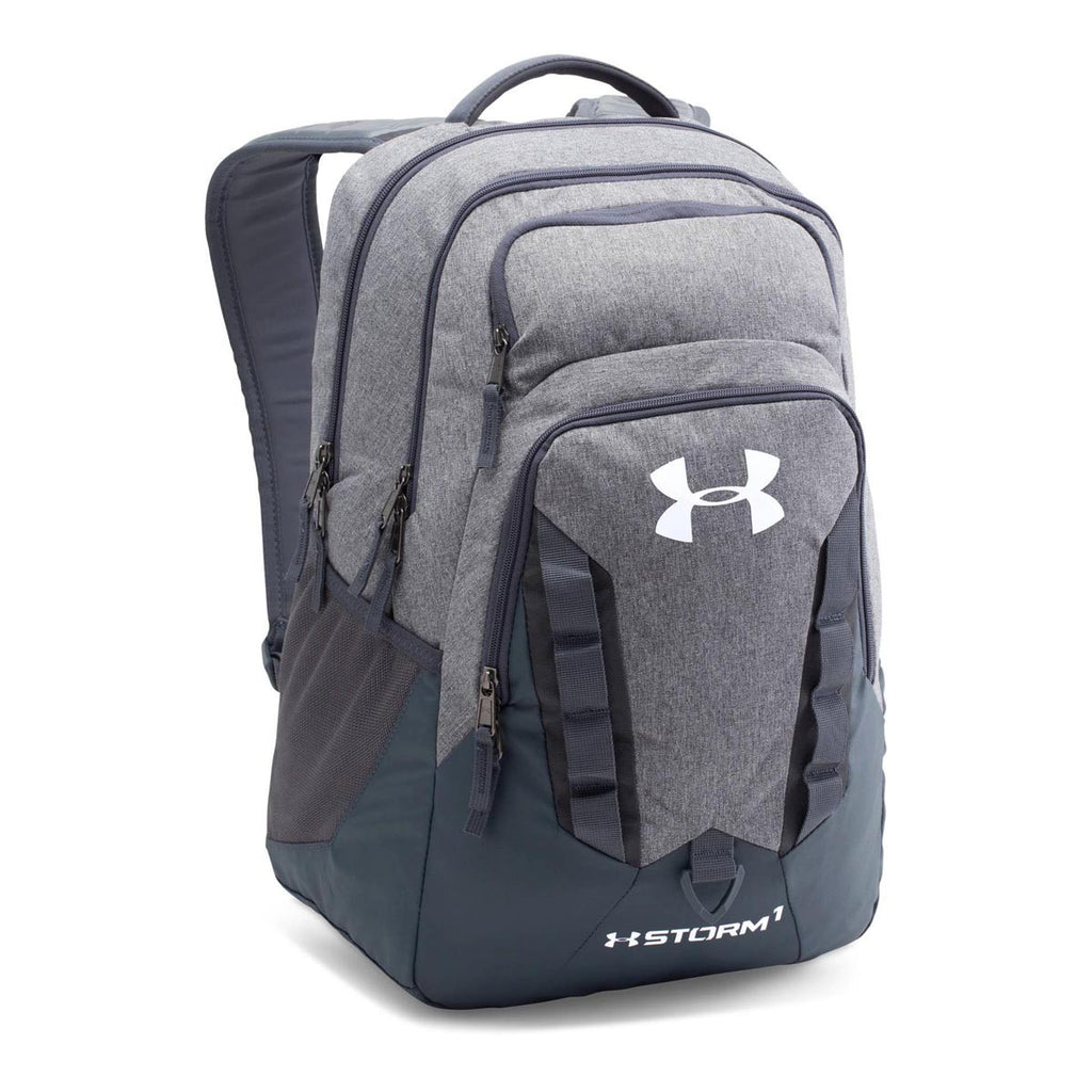 a2c3349fcdf4 Under Armour Graphite Storm Recruit Backpack. ADD YOUR LOGO