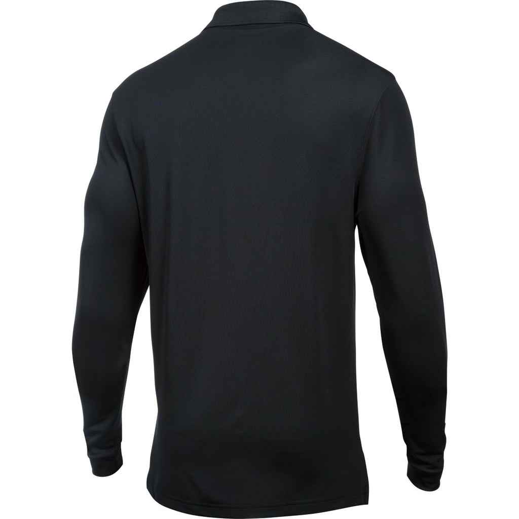 Under Armour Men's Black Performance L/S Polo