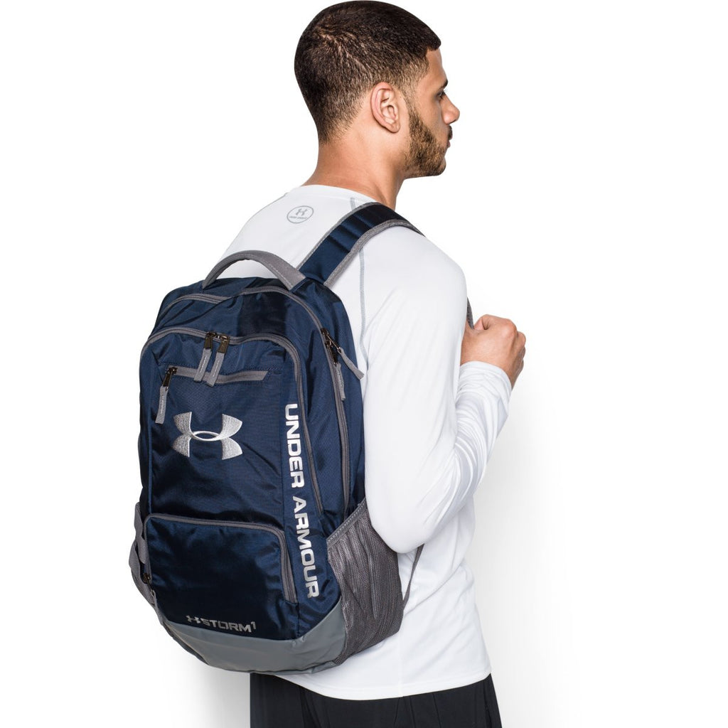 bb1697608fc9 Under Armour Midnight Navy Graphite UA Hustle II Backpack