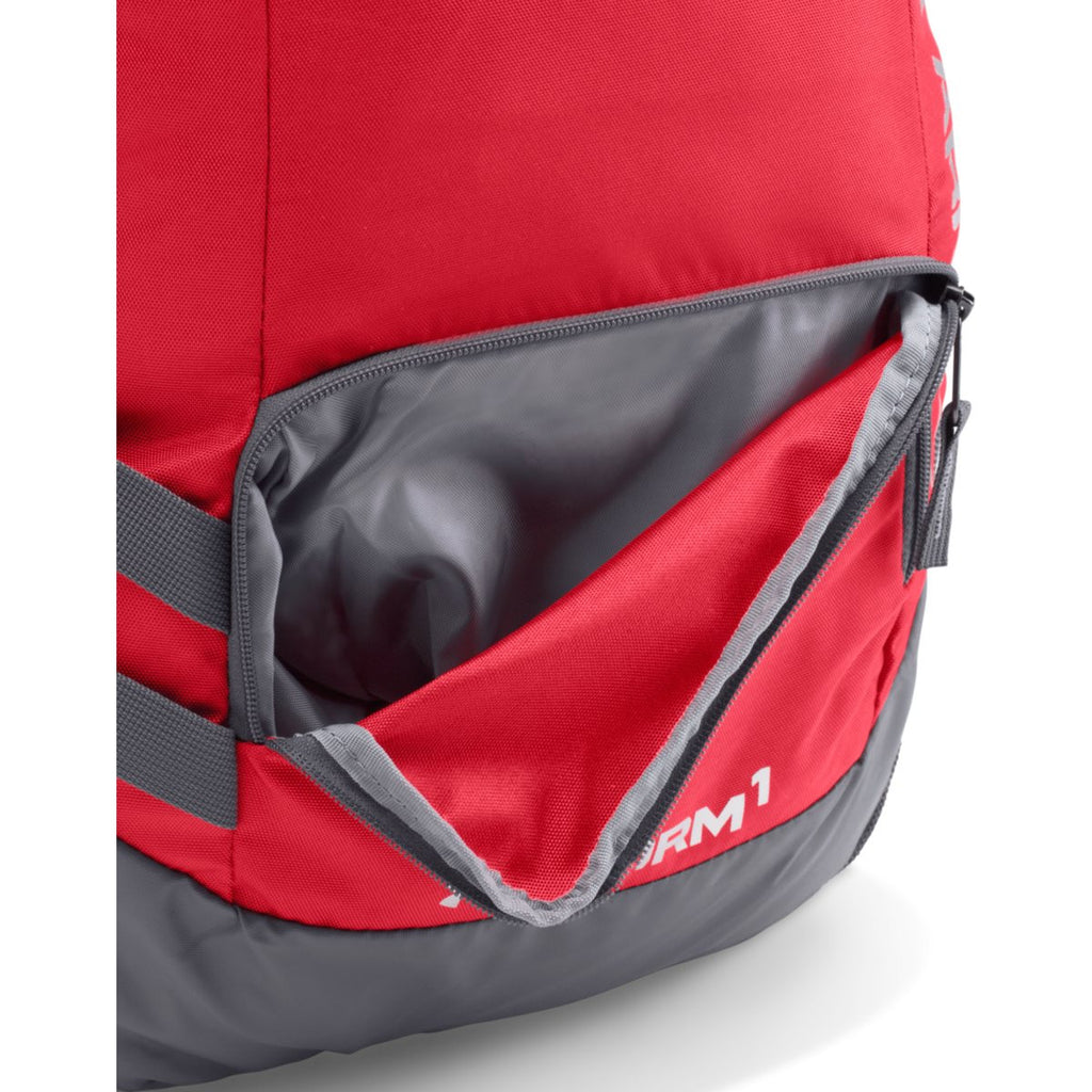 Under Armour Red/Graphite UA Hustle II Backpack