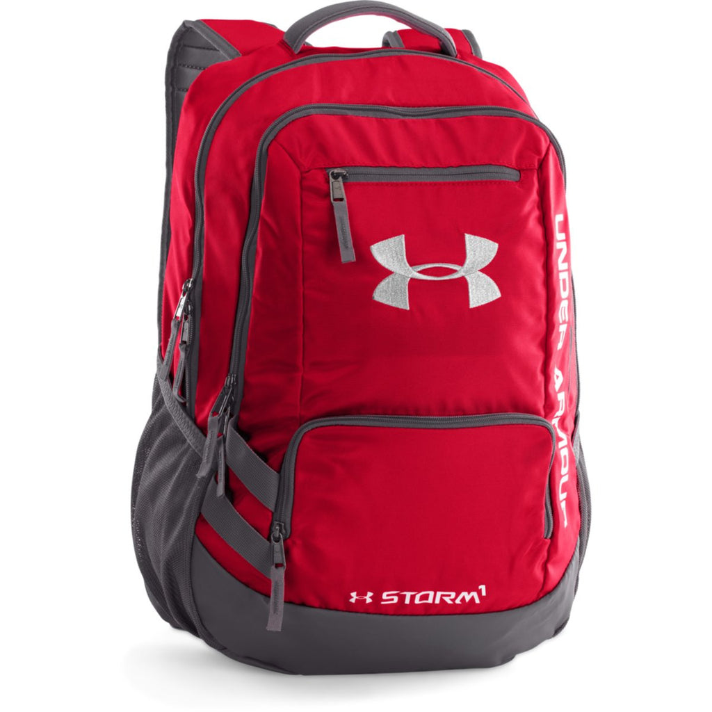 f11715ed99e0 Under Armour Red Graphite UA Hustle II Backpack. ADD YOUR LOGO