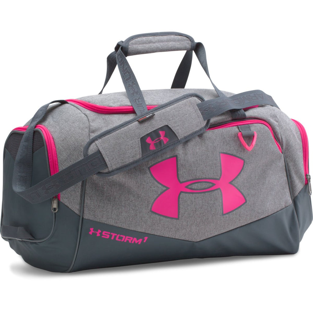 4a8a6b0c6774 Under Armour Pink Graphite UA Undeniable Small Duffel. ADD YOUR LOGO