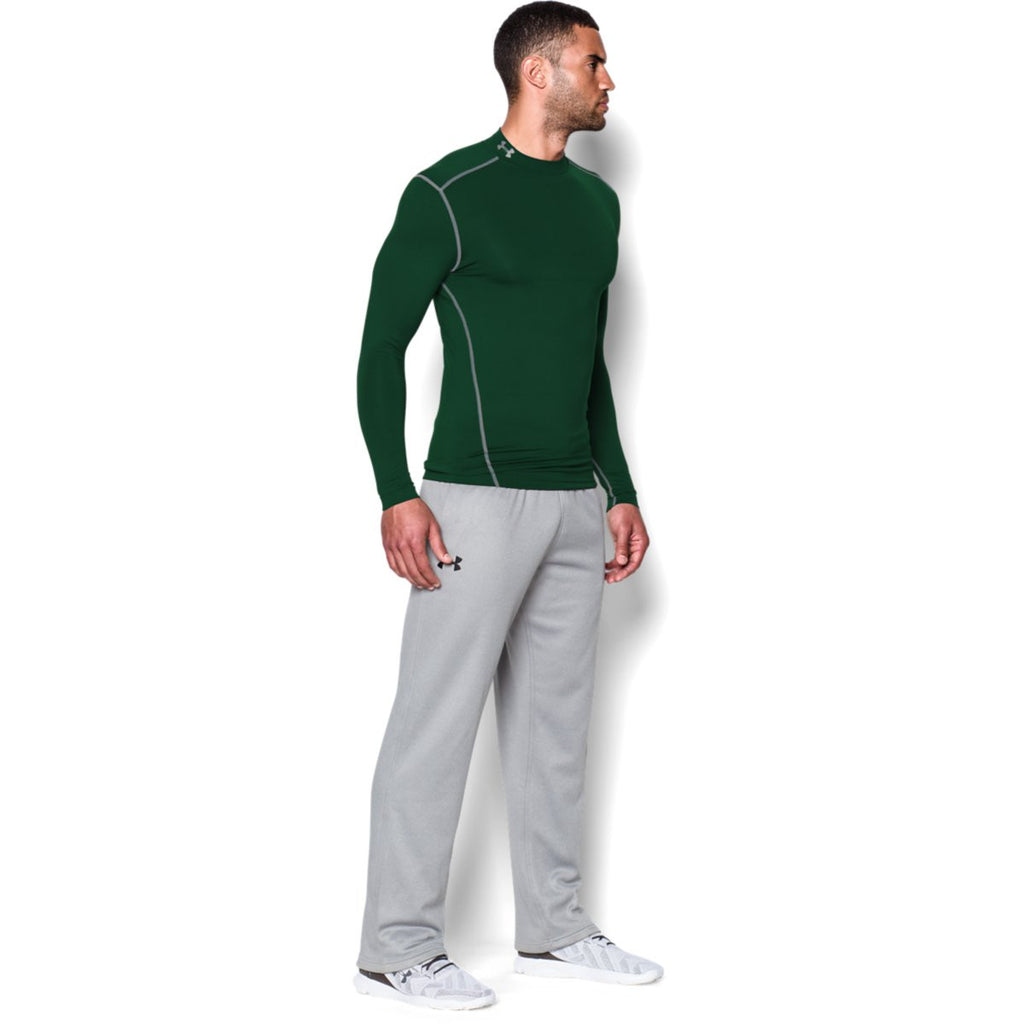 Under Armour Men's Green ColdGear Armour Compression Mock
