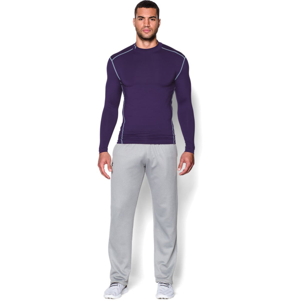 Under Armour Men's Purple ColdGear Armour Compression Mock
