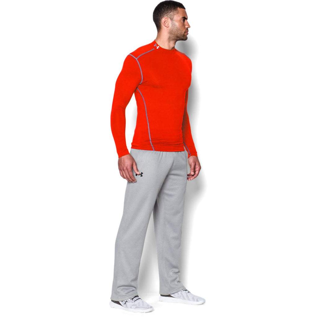 Under Armour Men's Dark Orange ColdGear Armour Compression Mock