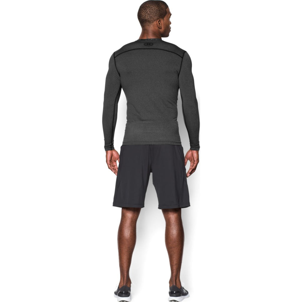 Under Armour Men's Carbon Heather ColdGear Armour Compression Crew