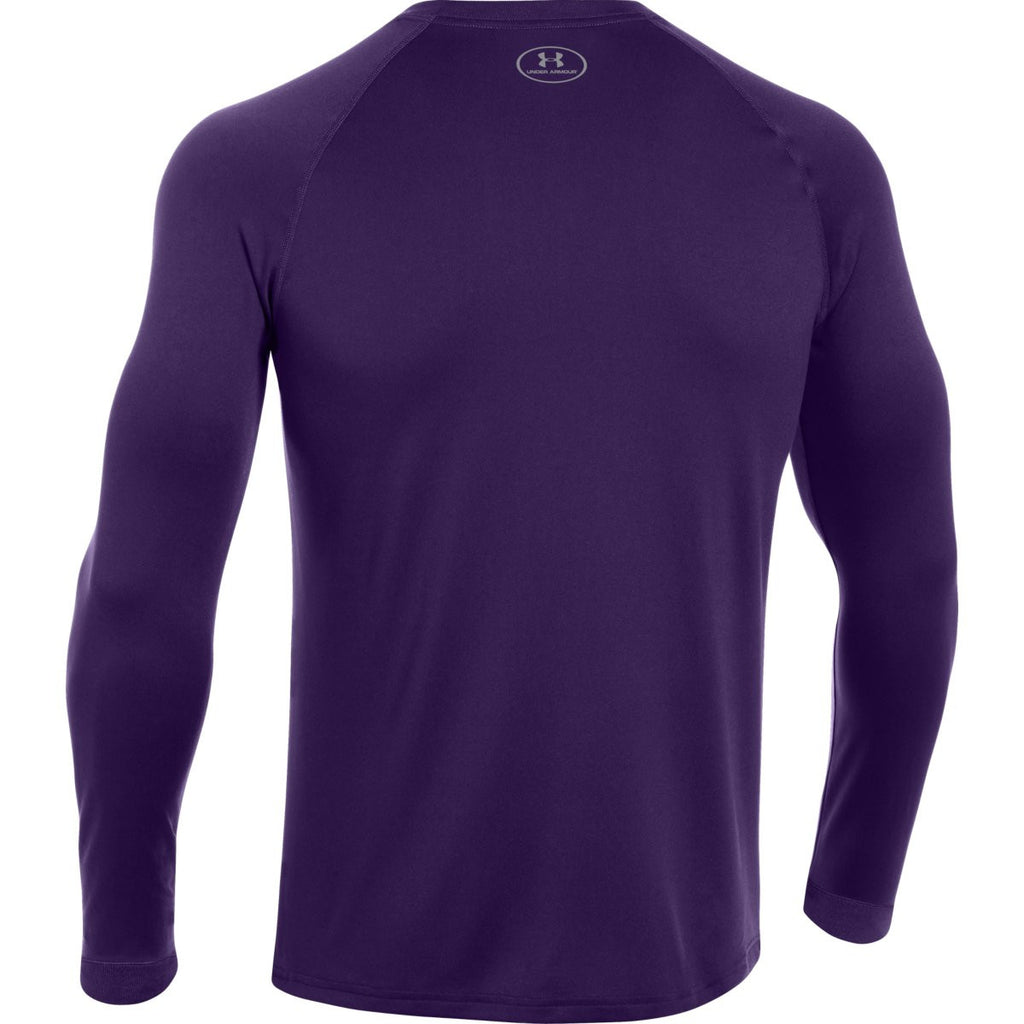 Under Armour Men's Purple L/S Locker Tee