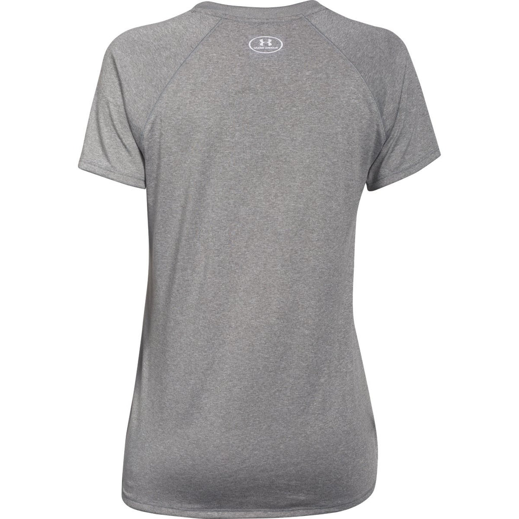 Under Armour Women's Grey Heather S/S Locker Tee