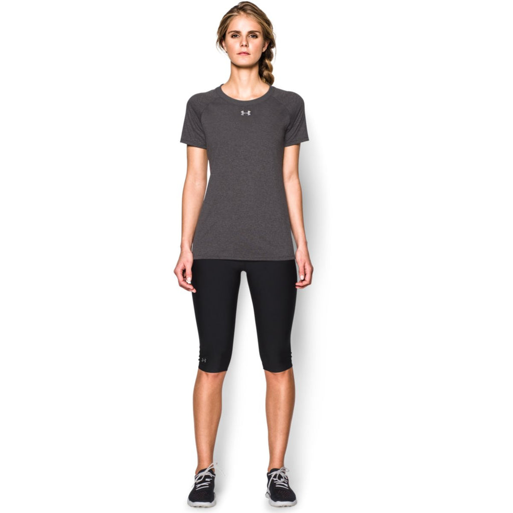 Under Armour Women's Carbon Heather S/S Locker Tee