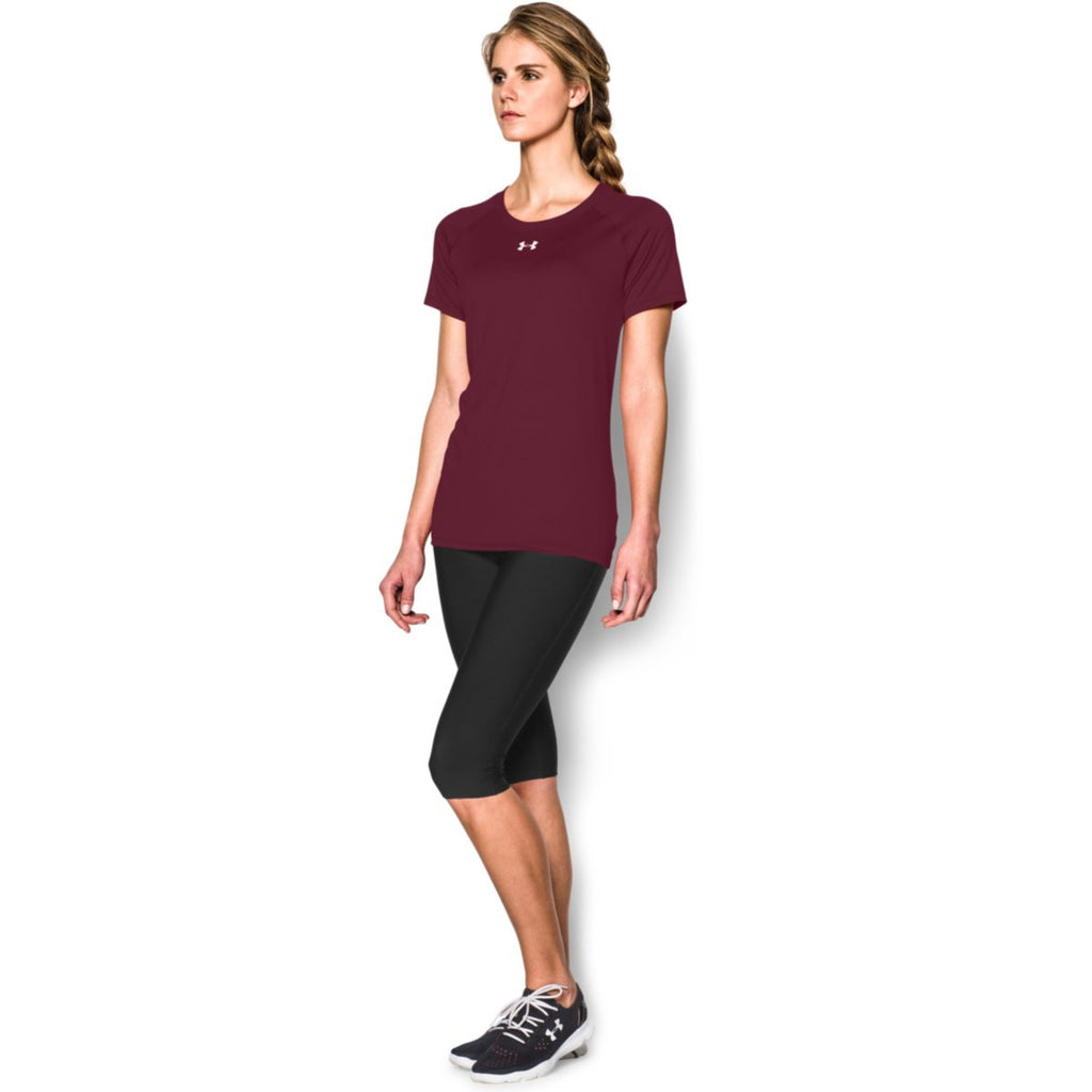 Under Armour Women's Maroon S/S Locker Tee