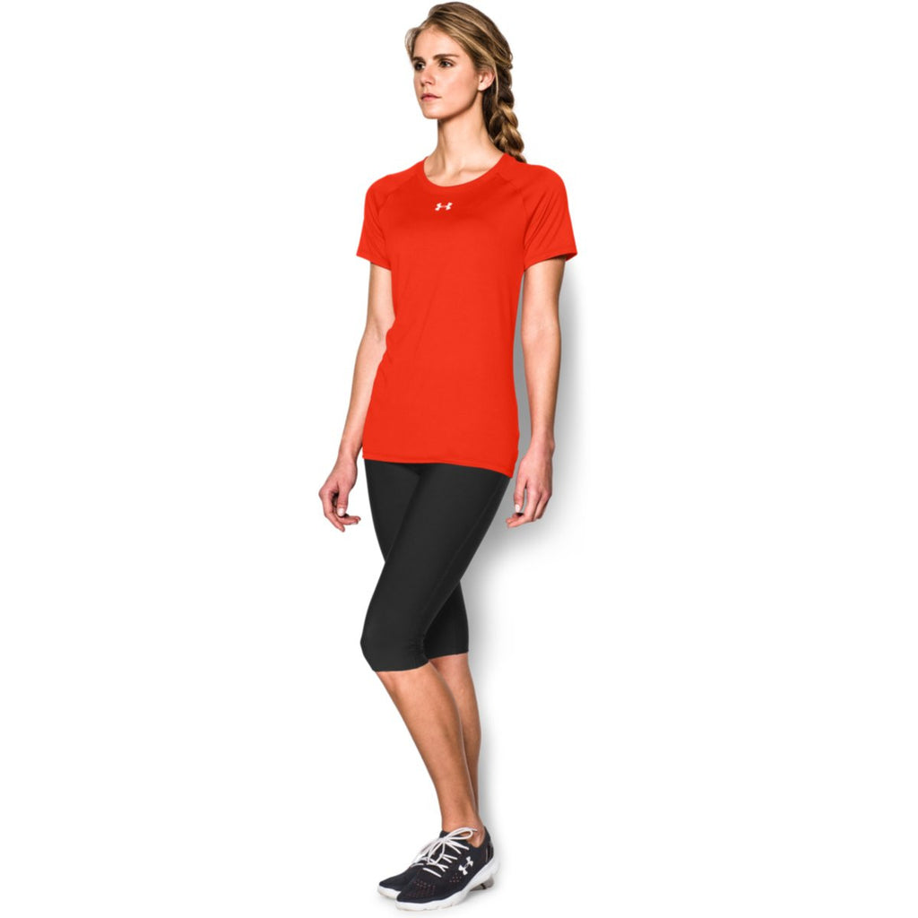 Under Armour Women's Dark Orange S/S Locker Tee
