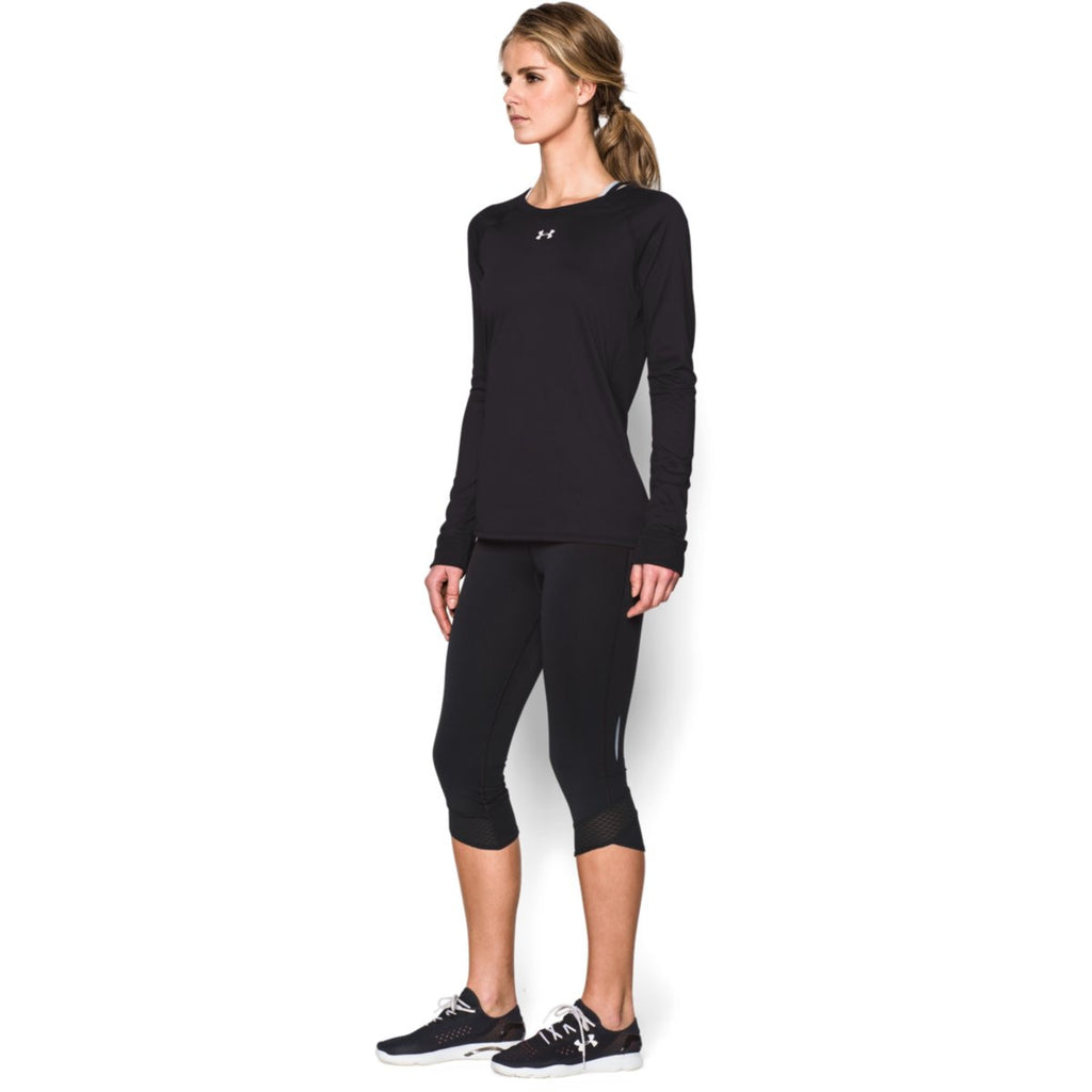 Under Armour Women's Black L/S Locker Tee