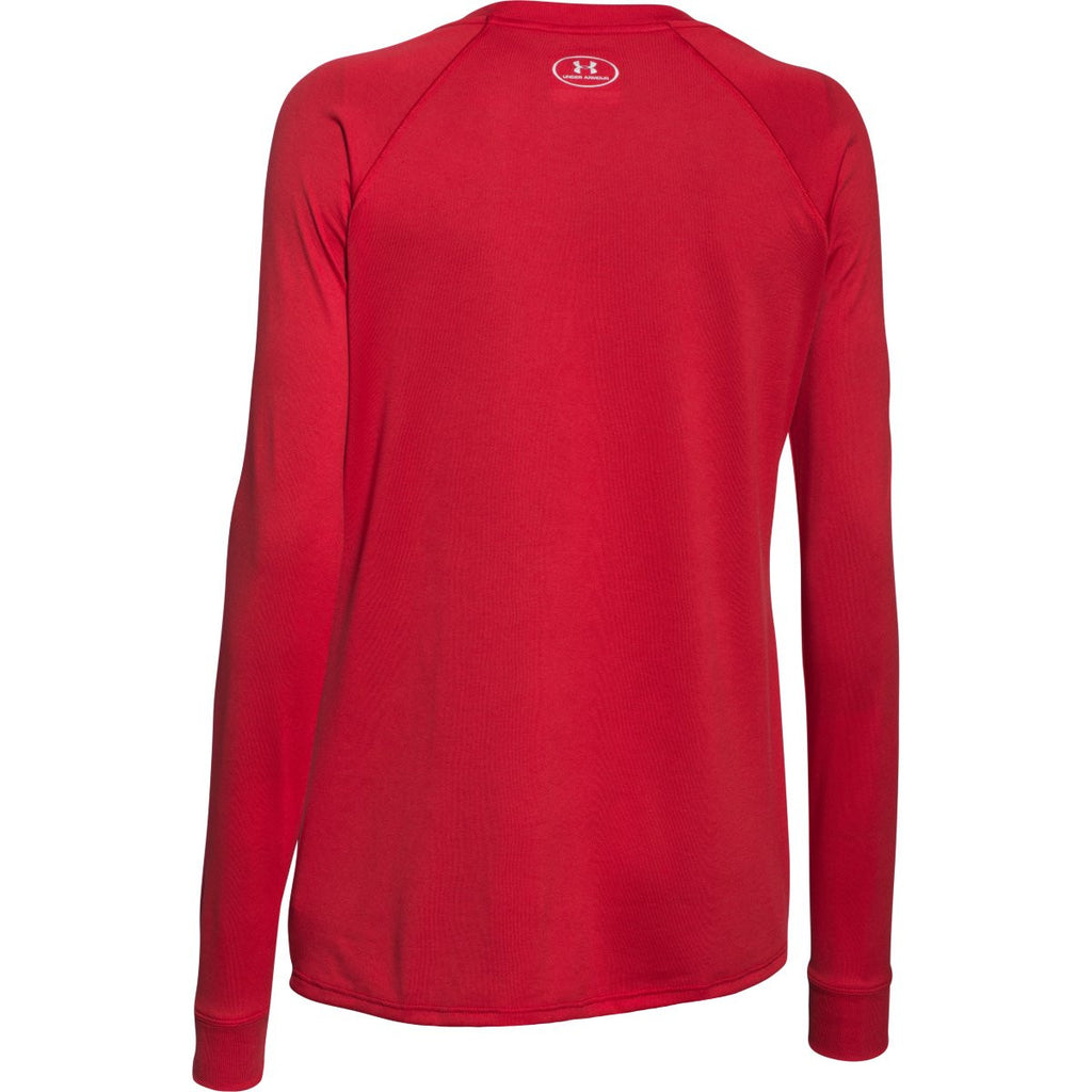 Under Armour Women's Red L/S Locker Tee