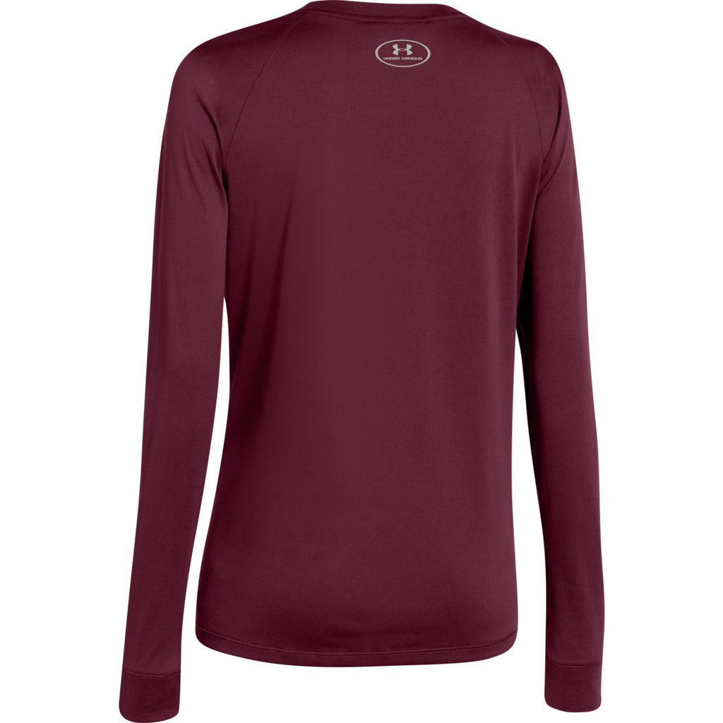Under Armour Women's Maroon L/S Locker Tee