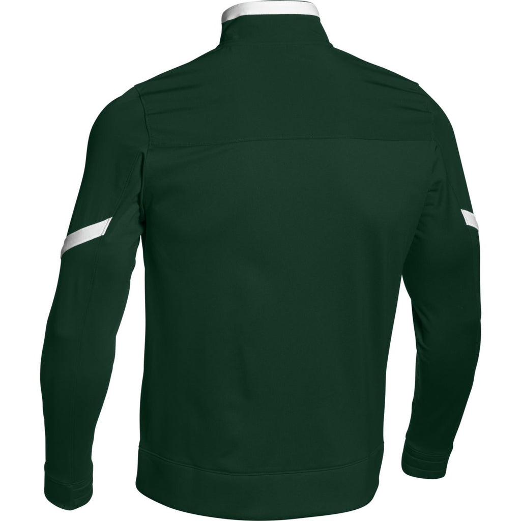 Under Armour Men's Forest Green Qualifier Full Zip Jacket