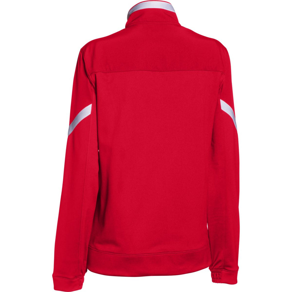 Under Armour Women's Red Qualifier Full Zip Jacket