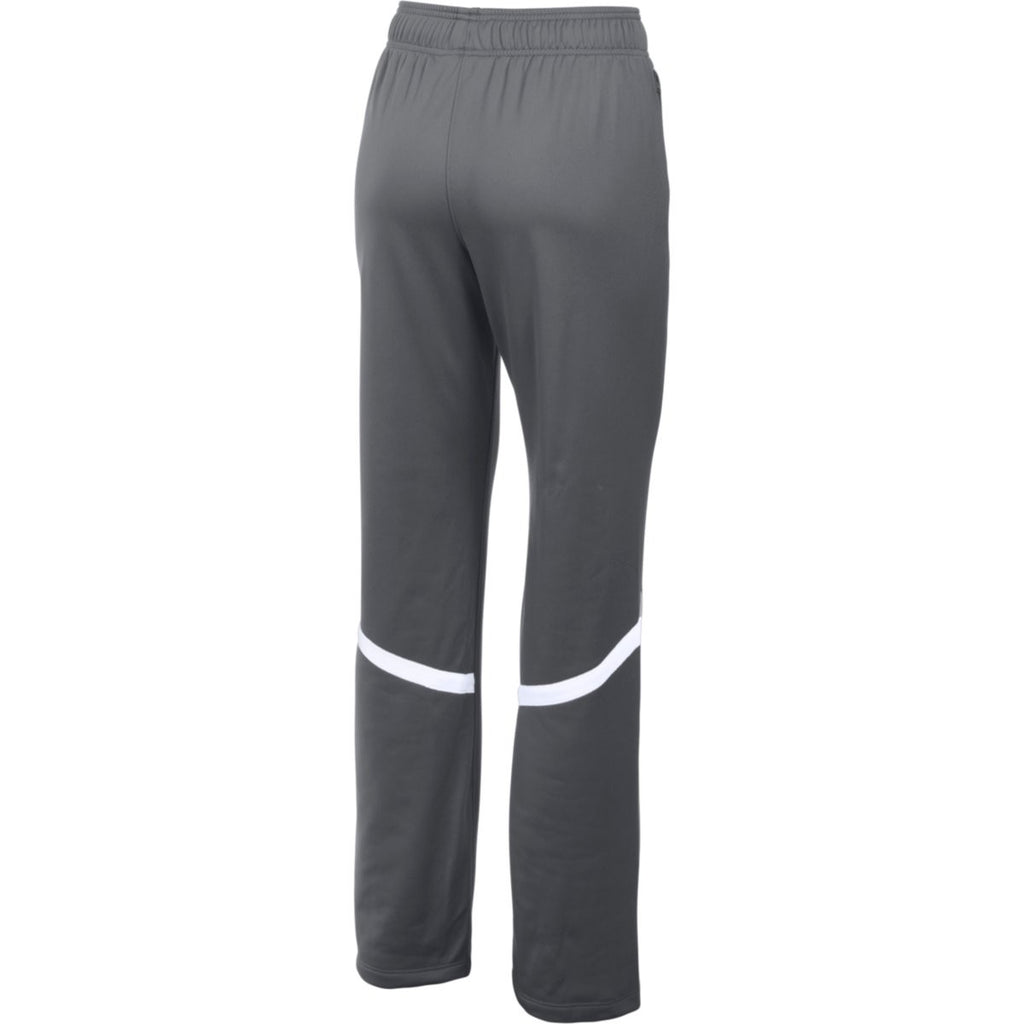 Under Armour Women's Graphite/White Qualifier Warm-Up Pant