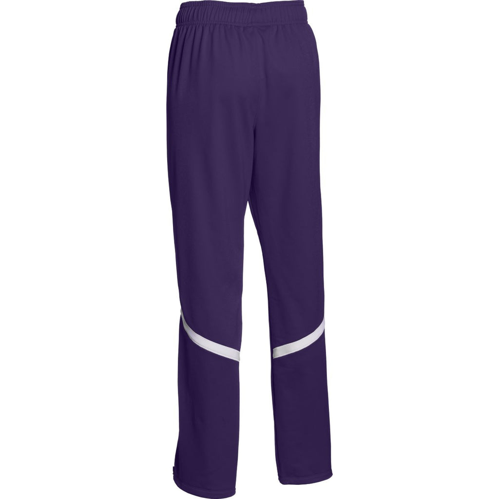 Under Armour Women's Purple/White Qualifier Warm-Up Pant