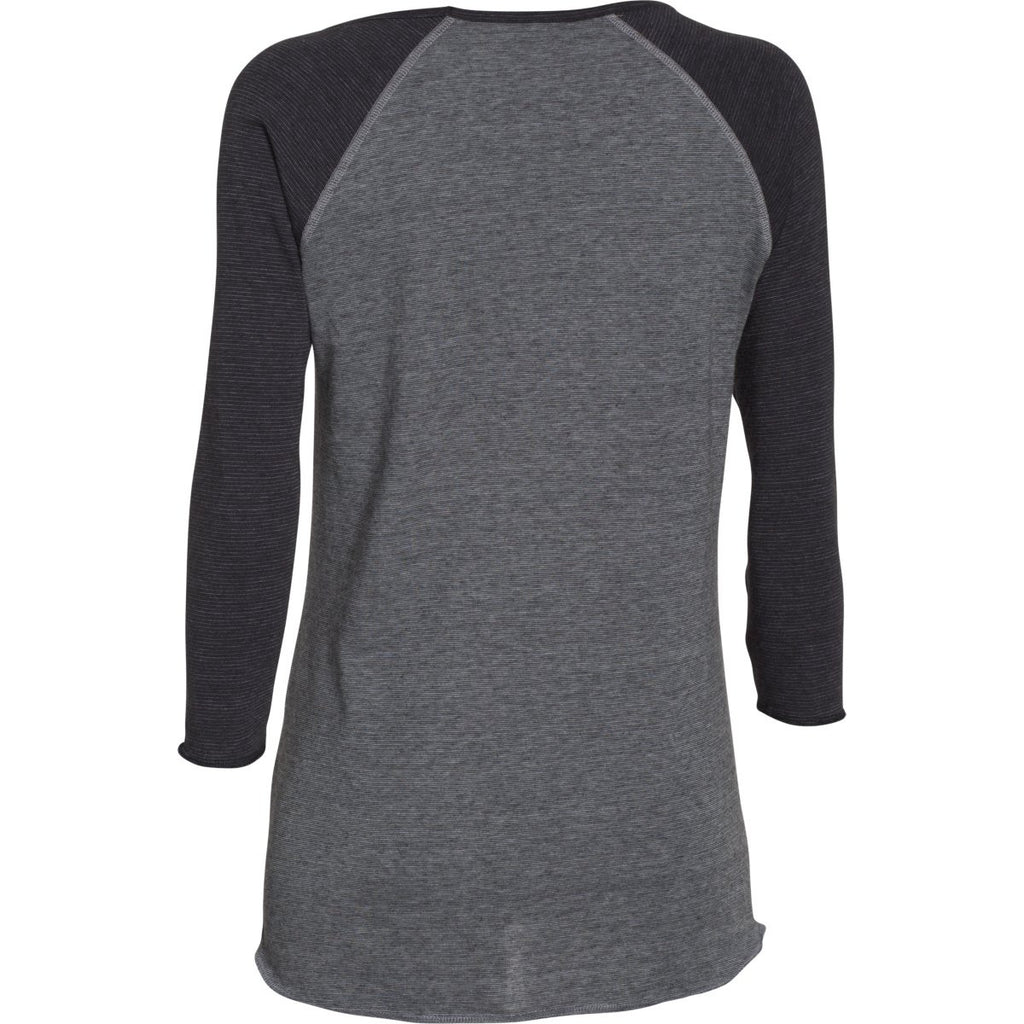 Under Armour Women's Black/Steel/Black Stadium 3/4 Sleeve T