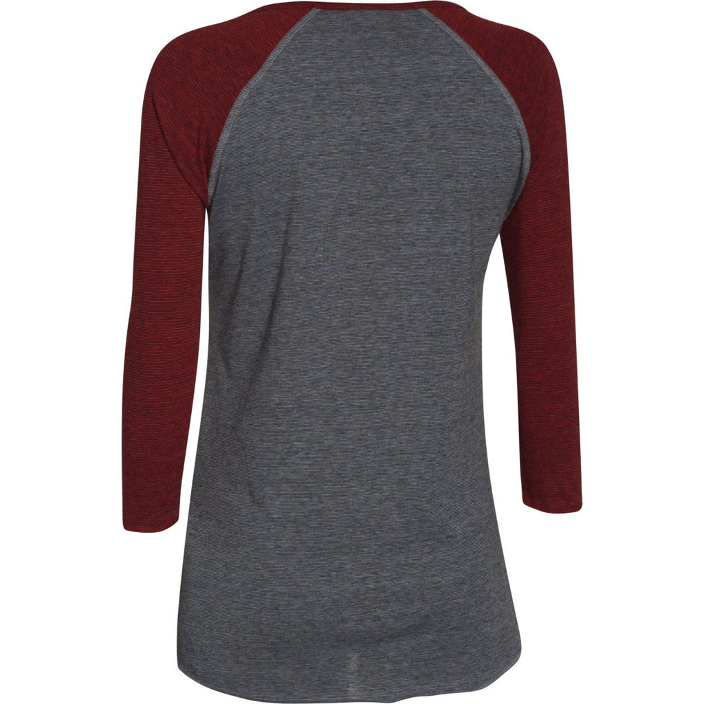 Under Armour Women's Red/Steel/Red Stadium 3/4 Sleeve T