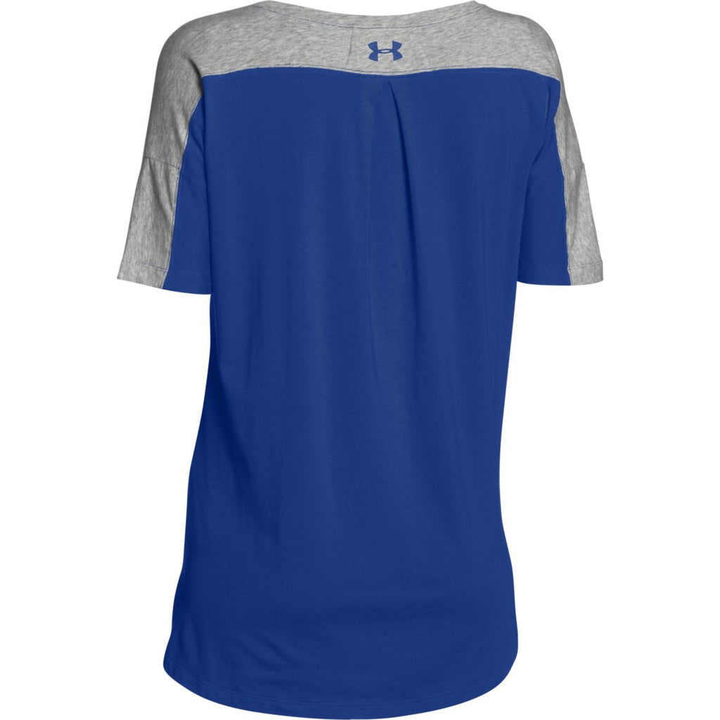 Under Armour Women's Royal/True Grey Heather/Royal Team Uptown Flow T