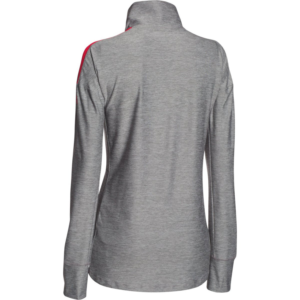 Under Armour Women's Red Hotshot 1/2 Zip