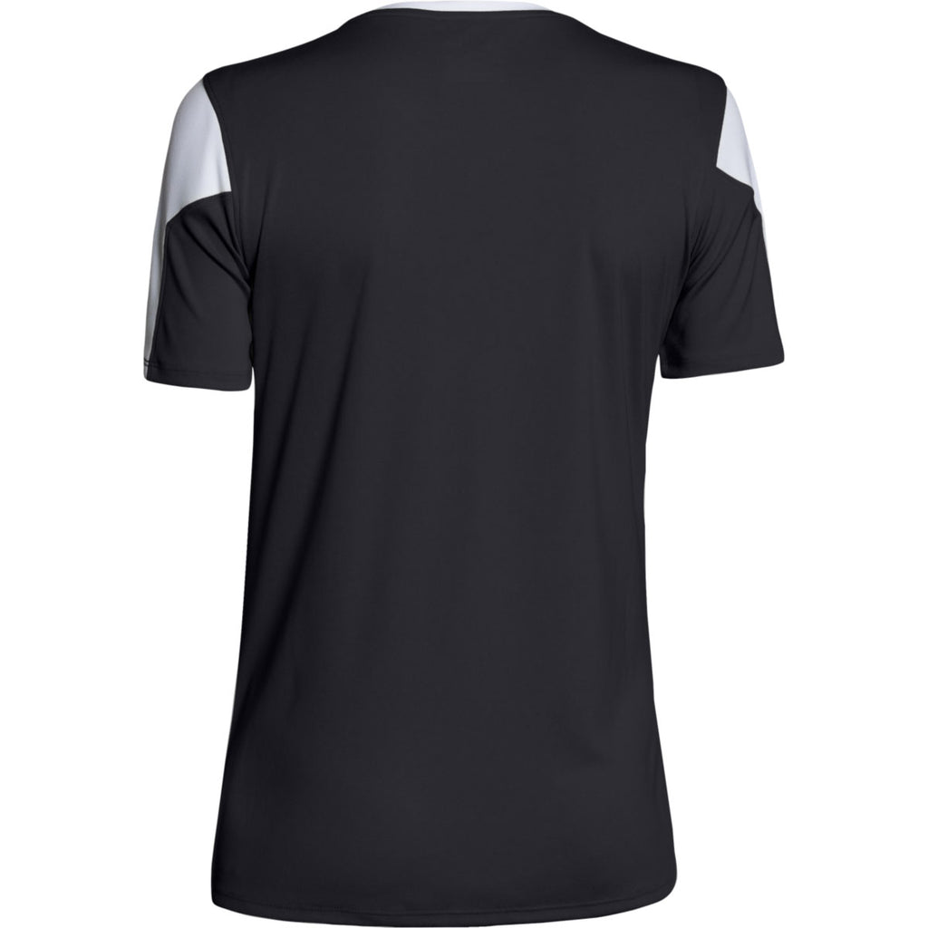 Under Armour Women's Black Maqunia Jersey Short Sleeve