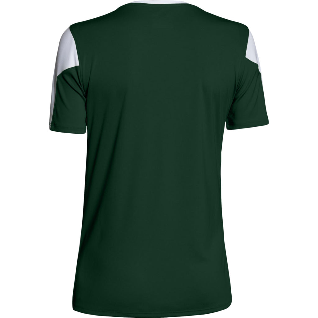 Under Armour Women's Forest Green Maqunia Jersey Short Sleeve