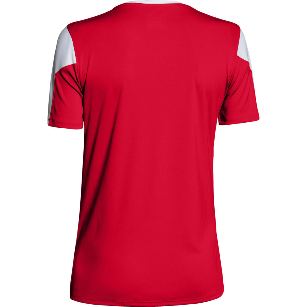 Under Armour Women's Red Maqunia Jersey Short Sleeve