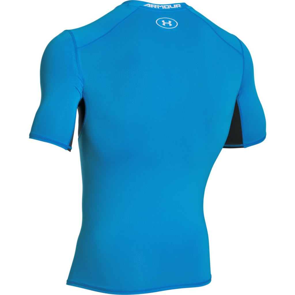 Under Armour Men's Electric Blue HG CoolSwitch Comp Short Sleeve T-Shirt