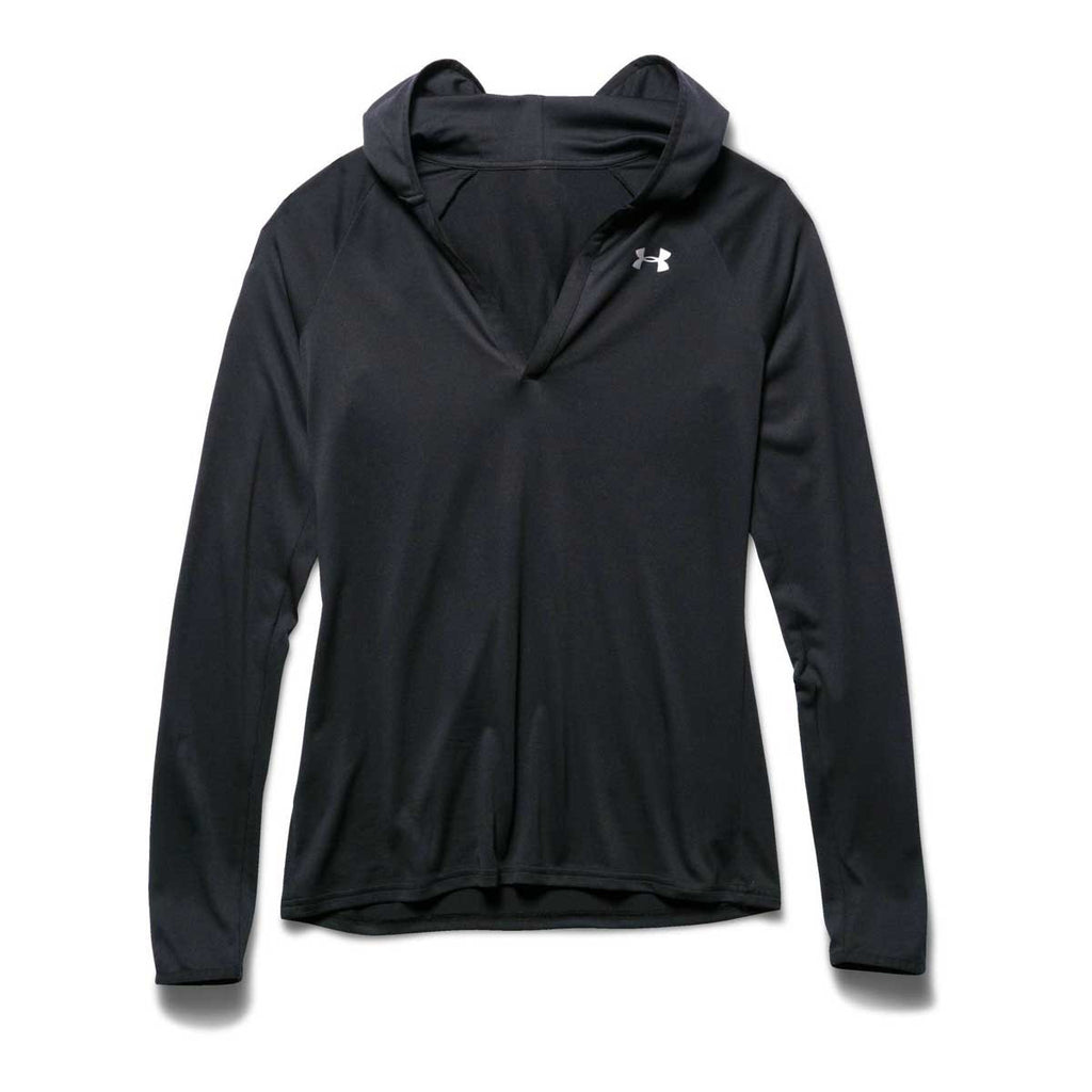 Under Armour Women's Black/Black/Metallic Silver UA Tech Long Sleeve Hoodie