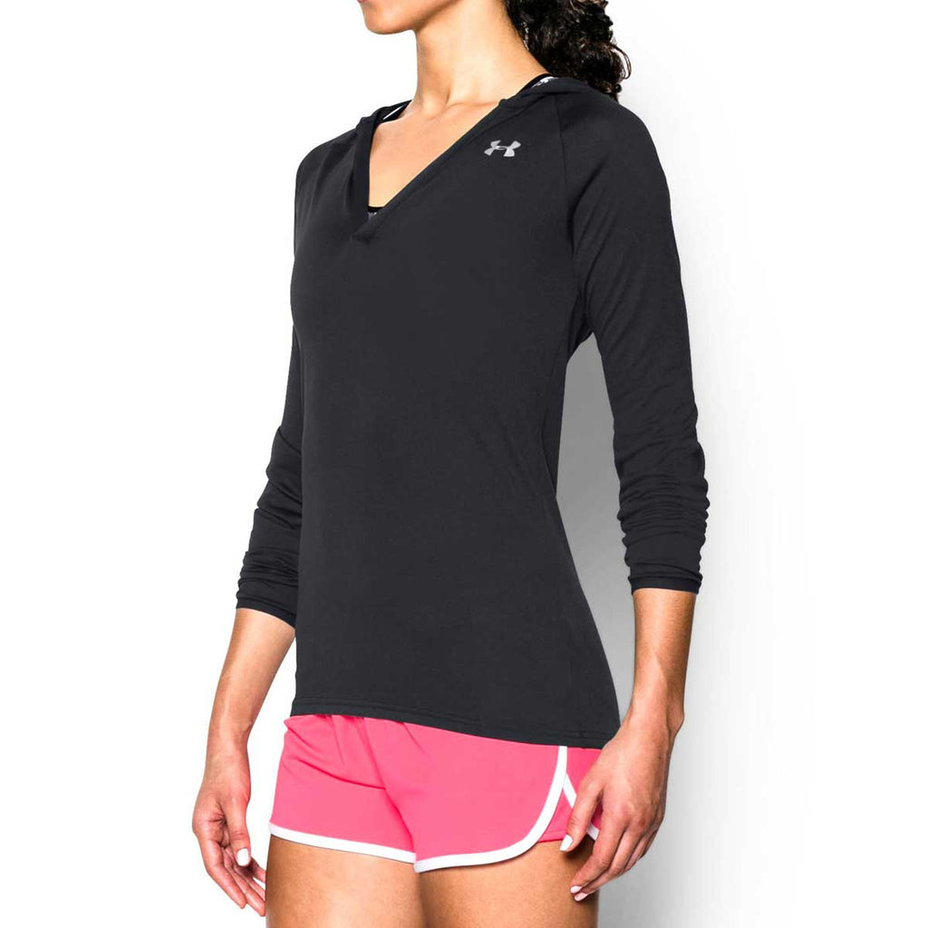 Under Armour Women's Black UA Tech Long Sleeve Hoodie