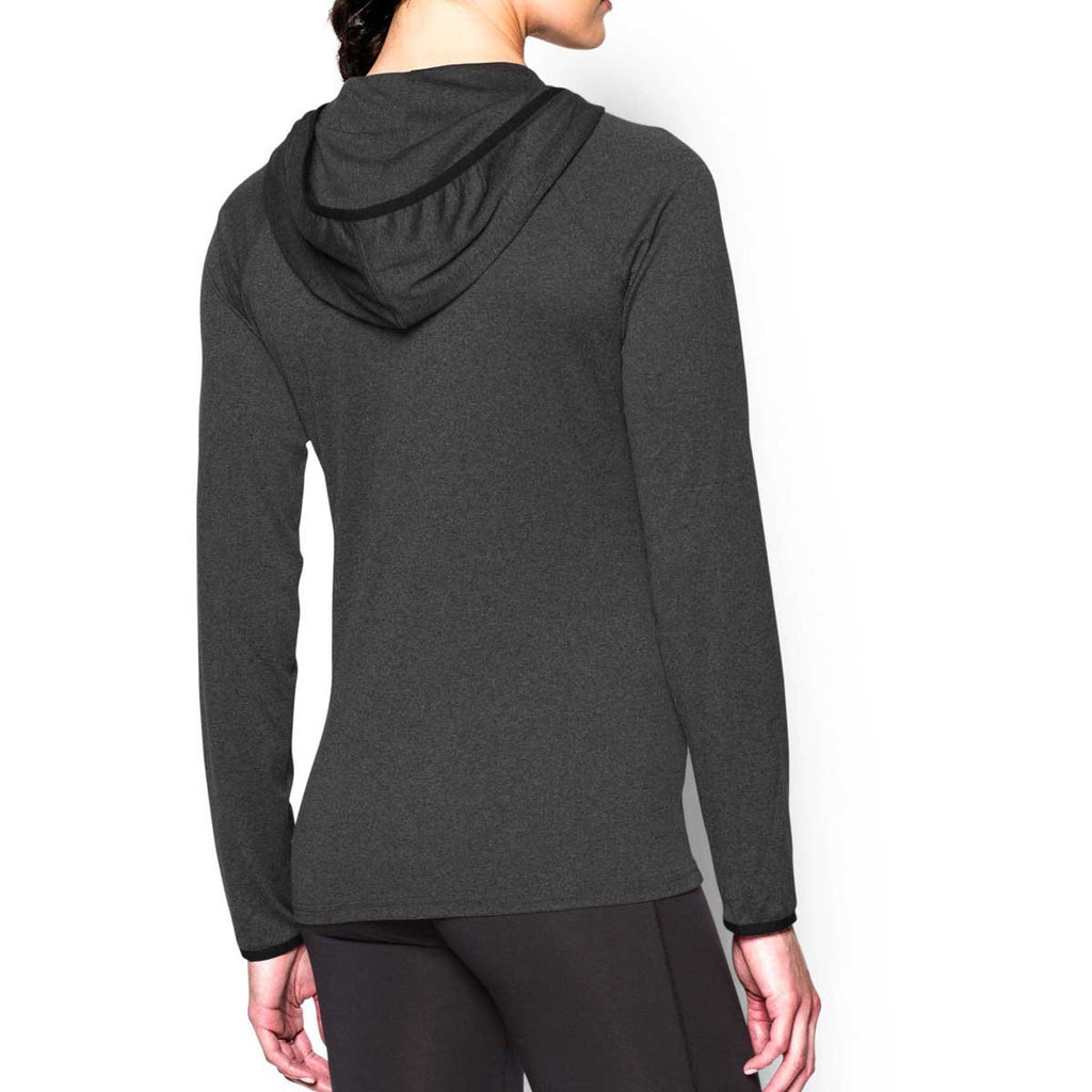 Under Armour Women's Carbon Heather UA Tech Long Sleeve Hoodie