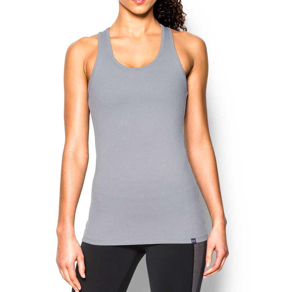Under Armour Women's Grey Heather Tech Victory Tank