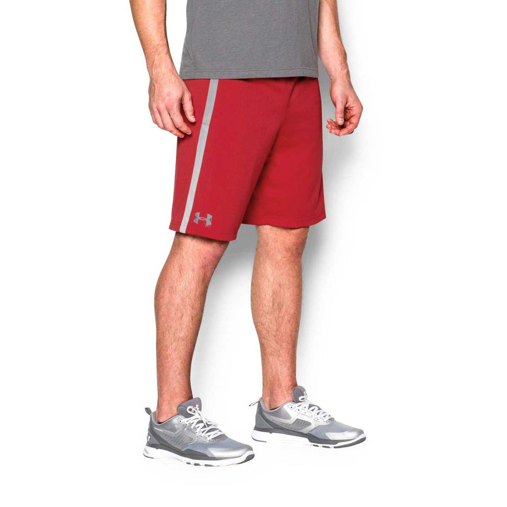 Under Armour Men's Red UA Tech Mesh Shorts