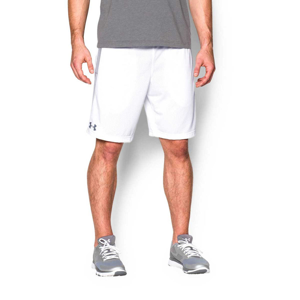 Under Armour Men's White UA Tech Mesh Shorts
